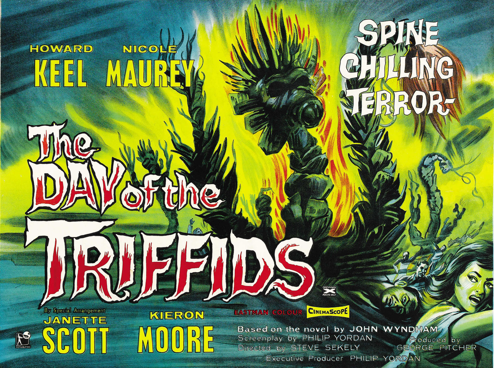 day of triffids The day of the triffids by john wyndham is a post apocalyptic story of survival against a breed of ravenous killer plants.